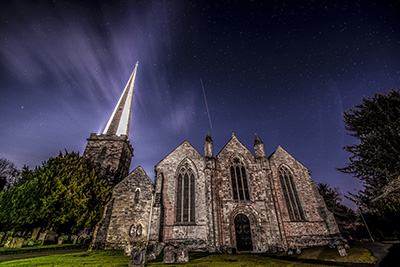 Church by Moonlight. Ledbury